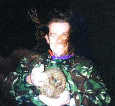 paul with rescued hedgehog somerset