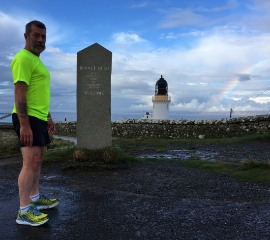 northernmost run with rainbow